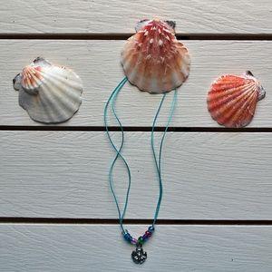 Jewelry - Boho Style blue flower Ankle Bracelet